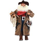 18 Cowboy Santa with Horseshoe by Santas Workshop - H289536
