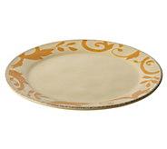 Rachael Ray Dinnerware Gold Scroll 12-1/2-InchRound Platter - H290236