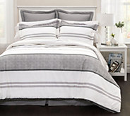 Hena 6-Piece Gray Stripe King Comforter Set byLush Decor - H290636