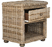 Lagos Wicker One-Drawer Nightstand by Valerie - H291036