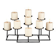 Nine Candle Metal Candelabra - H357136