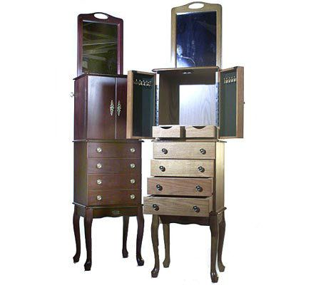 Thomas Pacconi Classic Deluxe Jewelry Armoire with Mirror QVCcom