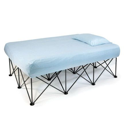Cabela Folding Queen Air Bed Frame With Wheeled Storage