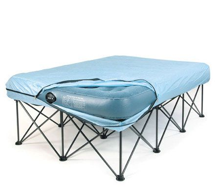 queen portable bed frame for air filled mattresses with bag page 1 qvccom
