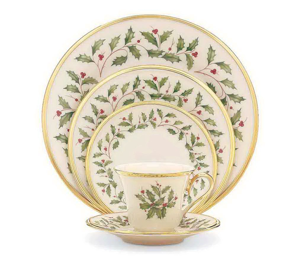 Lenox Holiday 5-piece Place-setting Set - Page 1 — QVC.com