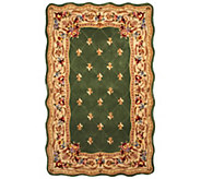Royal Palace Fleur De Lis Scallop 5 x 8 Wool Rug - H202337