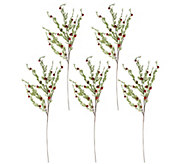 Set of 5 26 Cascading Jingle Bell Stems by Valerie - H208737
