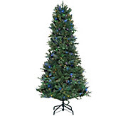 ED On Air Santas Best 7.5 Blue Royal Spruce Tree by Ellen DeGeneres - H209437