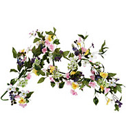 4 Mixed Floral Dogwood and Hydrangea Garland by Valerie - H210737
