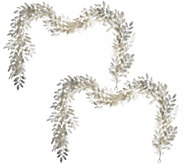 2pc 5 Glittered Leaf Garlands by Valerie - H212537