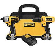 DeWalt 12-Volt Drill/Driver & Impact Driver Kit - H281437