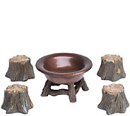 Plow & Hearth Fairy Wood Stump Fire Pit - H287037