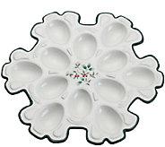 Pfaltzgraff Winterberry Snowflake Egg Plate - H287137
