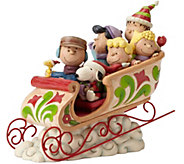 Jim Shore Peanuts Gang Sleigh Ride - H289937