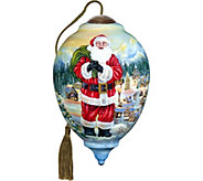 Ltd Edition Santa Claus is Coming to Town Ornament by NeQwa - H294237