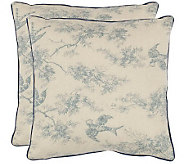 Safavieh Set of 2 18x18 Katie Floral AppliqueToile Pillows - H360637