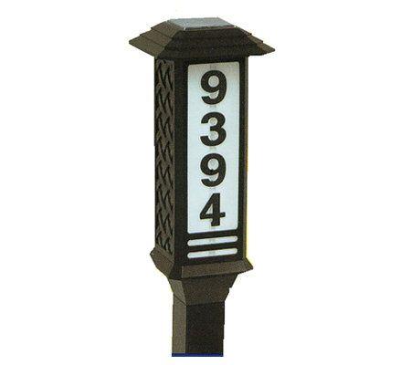 brinkmann solar house number address light page 1. Black Bedroom Furniture Sets. Home Design Ideas