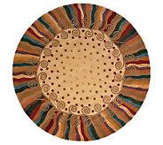 Momeni New Wave Wavy Lines 79 Round HandmadeWool Rug - H161738