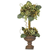Artichoke Topiary Flower Arrangement by NearlyNatural - H179238