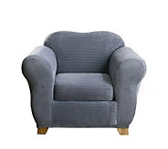 Sure Fit Stretch Royal Diamond 2-Piece Chair Slipcover - H180738