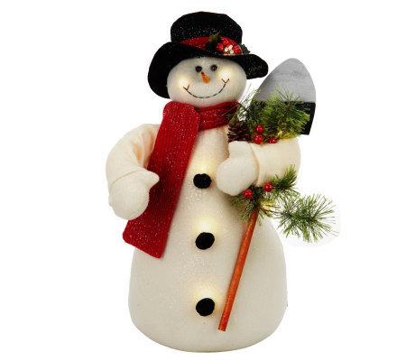 Bethlehem Lights Battery Op Large Snowman With Timer
