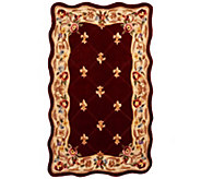 Royal Palace Fleur De Lis Scallop 3 x 5 Wool Rug - H202338