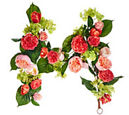 4 Rose, Hydrangea and Tulip Garland - H208038