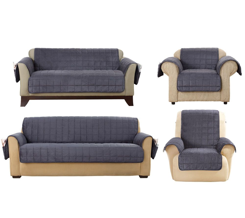 Surefit Deluxe fort Furniture Cover w Non Skid — QVC