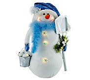 As Is Bethlehem Lights 18 Snowman with Feathers - H210338
