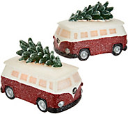 Candle Impressions Set of 2 Holiday Vintage Trucks or Vans - H211638