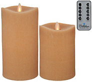 Bethlehem Lights Set of 2 5 & 7 Moving Flame Touch Candle w/Remote - H213938