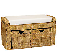 Household Essentials Banana Leaf Cushioned Storage Bench - H285138