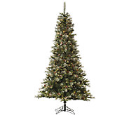 7.5 Iced Sonoma Spruce Tree w/ Dura-Lit Lights by Vickerman - H285438