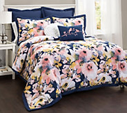 Floral Watercolor 7-Piece FL/QN Comforter Set by Lush Decor - H290638