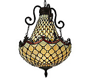 Tiffany Style 16W Diamond & Jewel Pendant Light - H355938