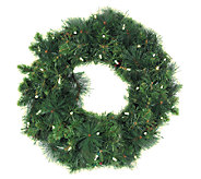 35-LED Anchorage Fir Pine Wreath - H363138