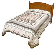 Newport Estate Twin Size Handcrafted Quilt - H123639