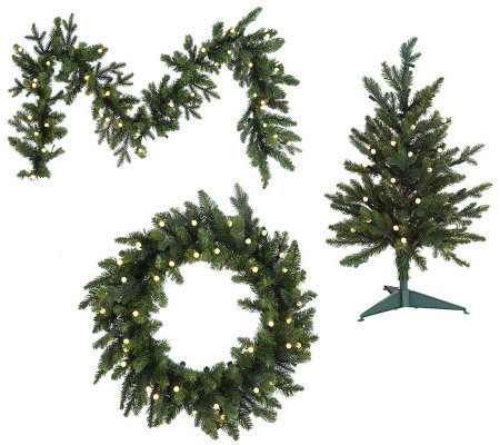 "BethlehemLights Battery Operated 26"" Wreath with Timer"