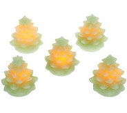 S/5 Candle Impressions Mini Flameless Christmas Tree Candles & Timer - H201039