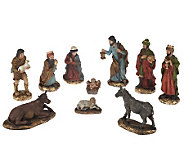 10-piece Hand-Painted Nativity Set by Valerie - H201239