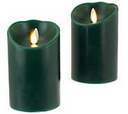 Luminara S/2 3x4 Holiday Flameless Candles with Timers - H203239