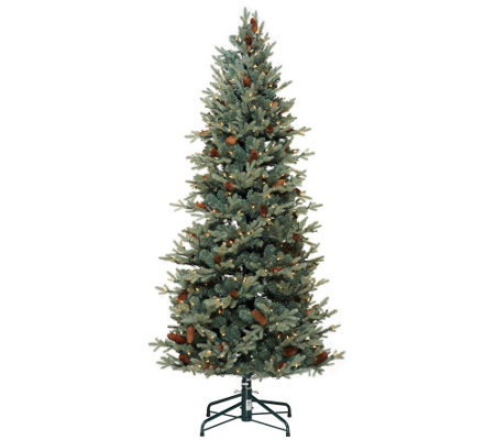 Lights 65 Blue Spruce Christmas Tree wInstant Power     QVCcom 0TJVlxB8