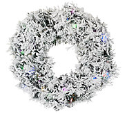 ED On Air Prelit 24 Flocked Wreath by Ellen DeGeneres - H204039