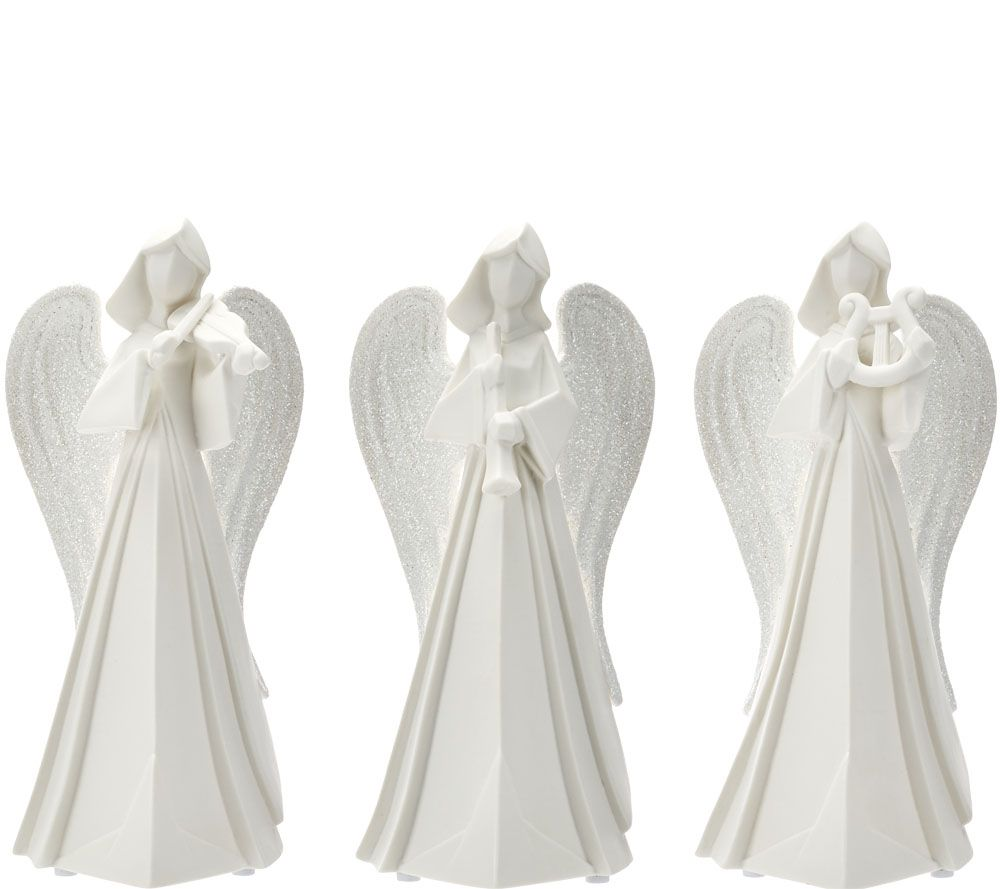 Kringle Express Set of 3 Porcelain Angels with Instruments - Page ...
