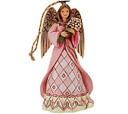 Jim Shore Heartwood Creek Breast Cancer Awareness Angel Ornament - H206539
