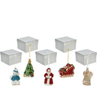 Set of 5 Mercury Glass Ornaments w/ Gift Boxes by Valerie
