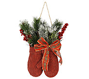 Plow & Hearth Winter Mittens with Lights and Berries - H207139