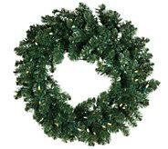 As Is ED On Air 24 Prelit Wreath by Ellen DeGeneres - H208439