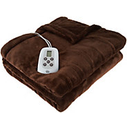 Serta Perfect Sleeper FL Heated Plush Blanket - H209239