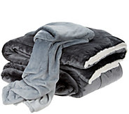 London Fog King Velvet Comforter w/ 50x60 Throw - H210139